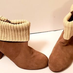 Torrid Woman's Ankle Boots Suede with Sweater Cuff